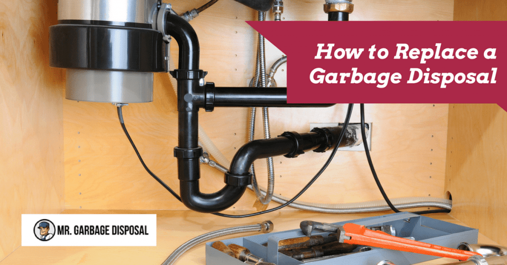 garbage disposal with toolbox nearby