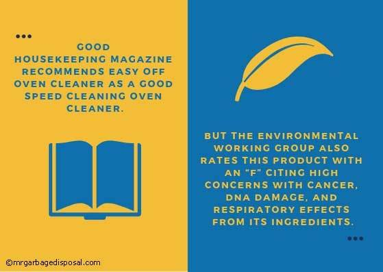 recommendation for an oven cleaner and its effects in the environment