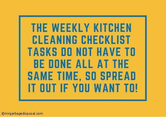 tips to remember when cleaning your kitchen on a weekly basis