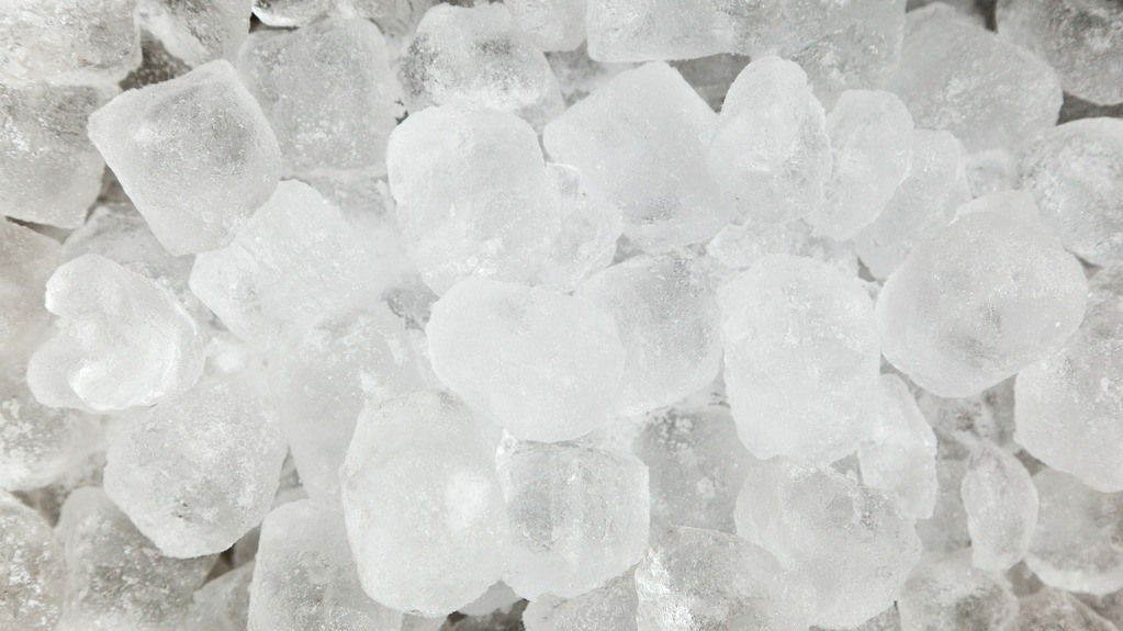 Ice for the garbage disposal ice trick