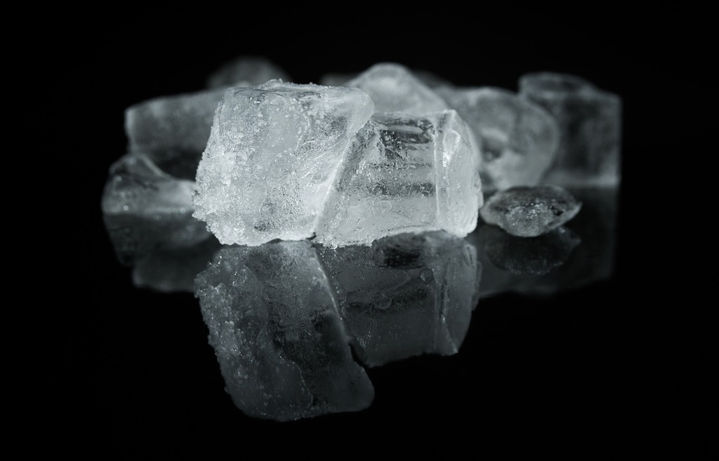 Cubes of ice for the Garbage Disposal Ice Trick